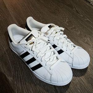 Mens 9.5 Adidas Superstar Gold
